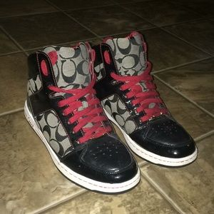 Coach high top sneakers, size 9